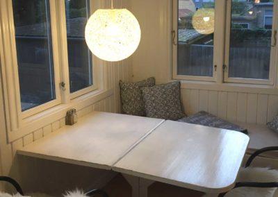 Kontorlokale 21 har egen altan med hyggelig veranda