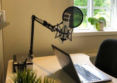 Delekontor i Roskilde centrum - optag dine podcasts her