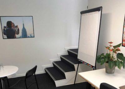 Få trin ned til dit nye enkeltmandskontor