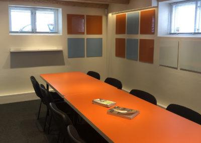 idéRummet er Roskildes innovative mødelokale - her kan du arbejde med Business Model Canvas...