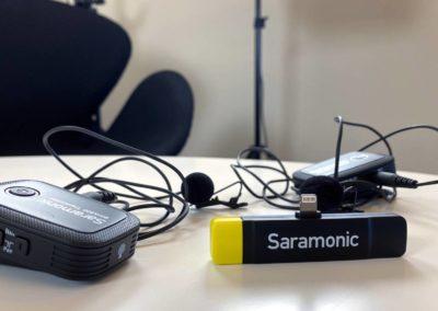 Lydstudie Roskilde - 2 saramonic giver dig optimal lyd til din iPhone...