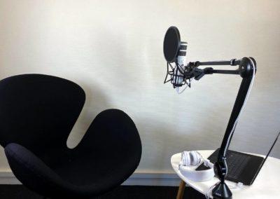 Podcaststudio Roskilde - vi har flere rolige lokaler...