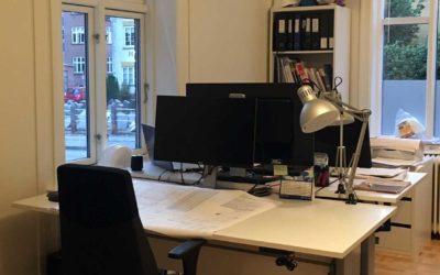 Stort kontor med masser af sjæl